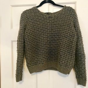 Theyskens Theory olive green wool sweater
